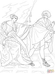 joseph and potiphar u0027s wife coloring page free printable coloring