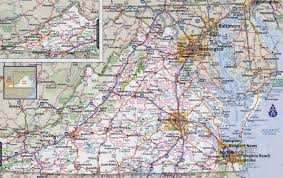 Interstate Map Of The United States by Large Detailed Roads And Highways Map Of Virginia State With