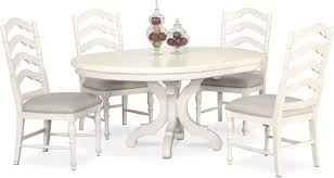 charleston round dining table and 4 side chairs white value