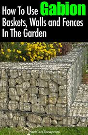 Types Of Garden Fencing How To Use Gabion Baskets Walls And Fences In The Garden
