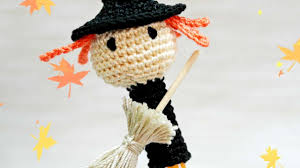 halloween witch craft how to make a crocheted halloween witch pen cap diy crafts
