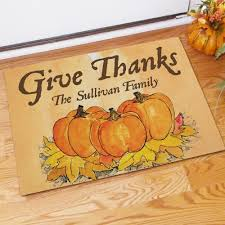 thanksgiving doormat give thanks personalized thanksgiving doormats create a warm