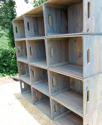 wooden crate wall shelves dozen wooden crates wall unit bookcase storage crate
