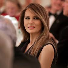 long hair lady melania trump opted for an elegant loose up do in tokyo beauty