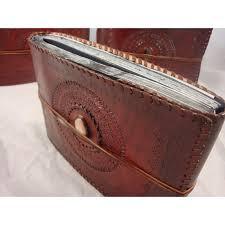 photograph album handmade leather bound photograph album vagabond travel gear