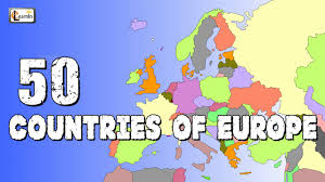 Map Of Africa With Capitals by 50 Countries Of Europe Countries Of Europe Elearnin Youtube