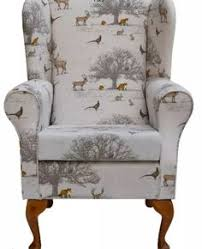 Queen Anne Office Furniture by High Back Orthopedic Queen Anne Style Fireside Winged Armchair
