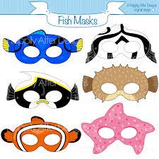 fish printable masks moorish idol starfish mask clownfish