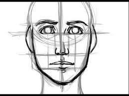 how to draw a face basic proportions youtube
