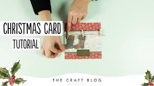 how to make a stocking christmas card quick xmas craft tutorial