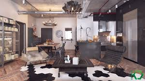 types of industrial loft apartment designs which applied with