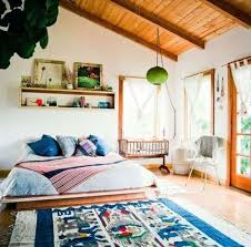 apartments cool bohemian apartment decor bedroom with white wall