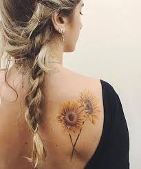 Shoulder Design - intricate sunflower design on shoulder for styles beat