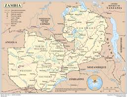 Map Of Africa Labeled by Administrative Map Of Zambia Zambia Administrative Map Vidiani
