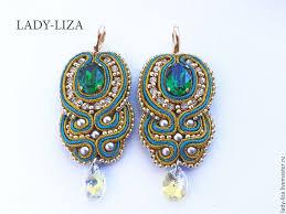 soutache earrings soutache earrings luxury earrings beaded handmade shop