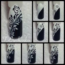50 best black u0026 white nail art images on pinterest black and
