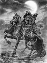 ghostly rider by helen 2d digital art fantasy art