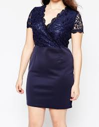 Navy Blue Lace Dress Plus Size Club L Plus Size Bodycon Dress With Scallop Lace Top Navy In