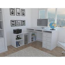 houston white l shaped corner desk with 4 drawers elb2603 the