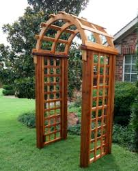 Garden Arch Plans by Wood Fence With Lattice Designs Outdoor Solid Wood Wooden Garden