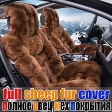 siege auto haut de gamme hiver plein fourrure de mouton siège d auto couverture de coussin