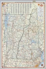 New Hampshire State Map by Shell Highway Map Of New Hampshire Vermont David Rumsey