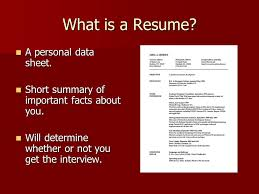 What Is The Summary In A Resume Resumes And Letters Of Application What Is A Resume A Personal
