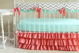 Pink Chevron Crib Bedding Bumperless Sweet Sorbet Baby Bedding Lottie Da Baby