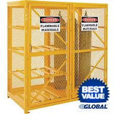 Yellow Storage Cabinet Gas Cylinder Storage Cabinets At Global Industrial