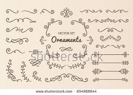 set collection vintage ornament elements stock vector 654968644