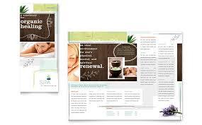 day spa tri fold brochure template word u0026 publisher