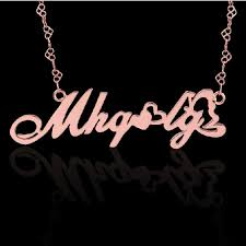 Sterling Silver Monogram Bracelet Name Necklaces Personalized Name Necklaces Jewinston Com