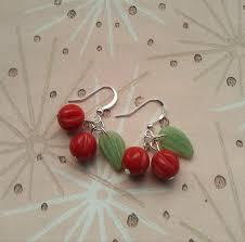 rockabilly earrings cherry earrings rockabilly earrings lucite earrings novelty