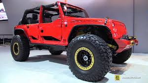sema jeep 2016 2016 jeep wrangler spicy chicken walkaround nitto tires stand