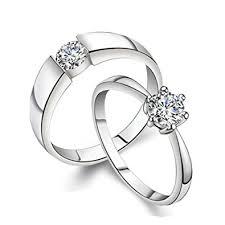 verlobungsringe silber diamant bishilin 2 stücke verlobungsring hochzeit ringe s925 sterling