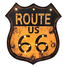 19 x 21 led route 66 light up sign at home at home