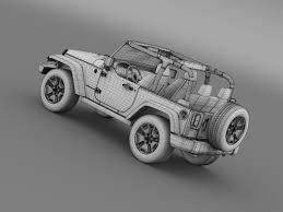 jeep drawing jeep wrangler willys 2014 by creator 3d 3docean