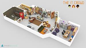 Floorplan Com by Famous Tv Shows Brought To Life With 3d Plans Drawbotics