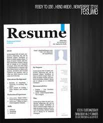 Free Designer Resume Templates 1 Free Resume Template Newspaper Style U003e U003e U003e Work Related