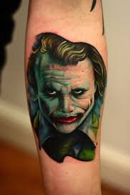 nice joker tattoo real photo pictures images and sketches