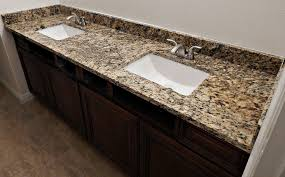 st cecelia granite countertop remodel with flat polish edge and