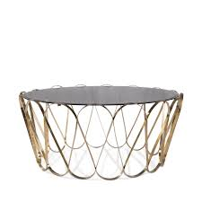 Baroque Coffee Table by Original Design Coffee Table Glass Polished Stainless Steel
