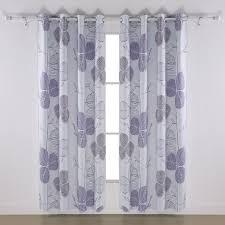 Blackout Curtains White Interior Cotton Light Lavender Blackout Curtains With Dark Rod