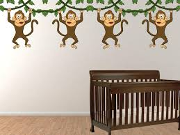 monkey wall decals for nursery jen joes design monkey wall image of no more monkeys jumping on the bed wall decals