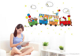 105x75cm 42x30 abc1022 hello kitty wall stickers for kids rooms see larger image