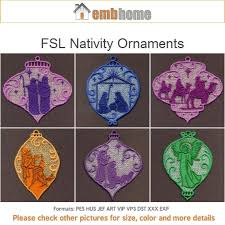 fsl nativity ornaments free standing lace machine