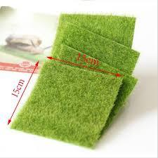 tappeti verdi quasi naturale tappeto di erba prati artificiali verdi 15x15 cm