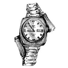 drawn watch wrist watch pencil and in color drawn watch wrist watch