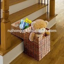 high quality decorative wicker storage stair step basket buy