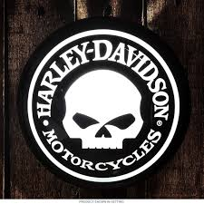 harley davidson willie g skull pub light biker bar decor